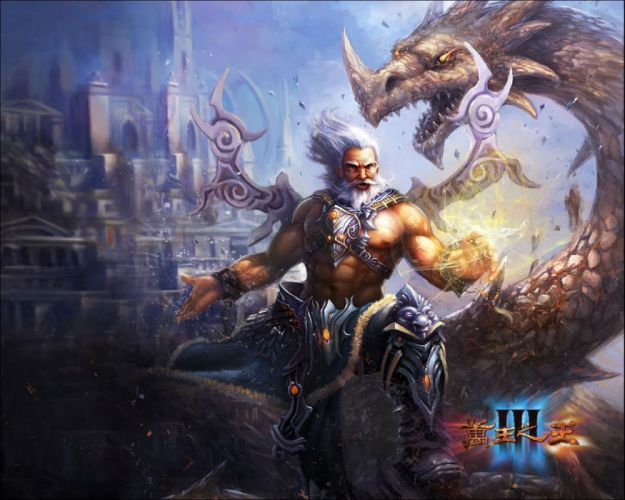 KING Of KINGS 3 fantasy mmo rpg action fighting online 1koks medieval warrior poste dragon wallpaper