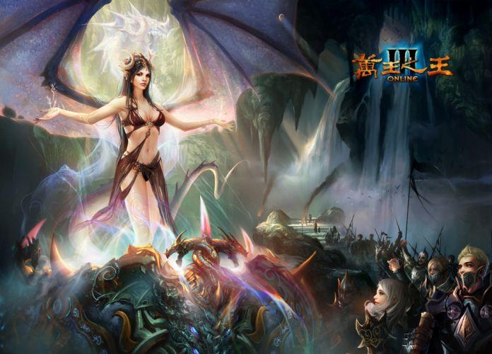 KING Of KINGS 3 fantasy mmo rpg action fighting online 1koks medieval warrior poster angel wallpaper