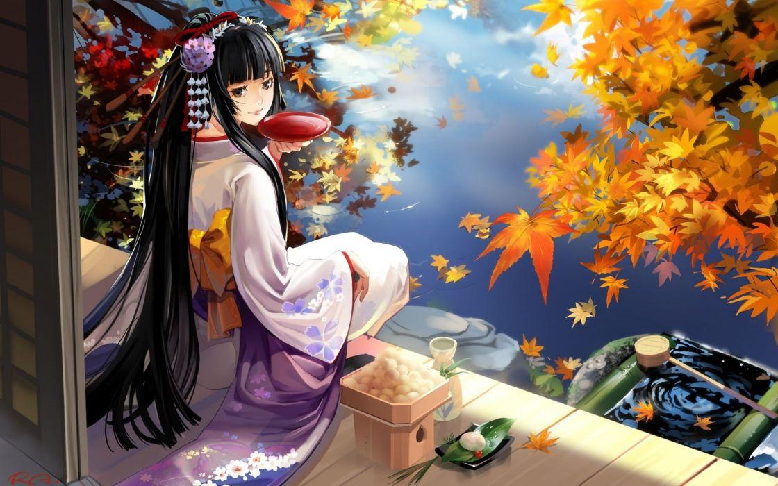chica oriental manga anime wallpaper