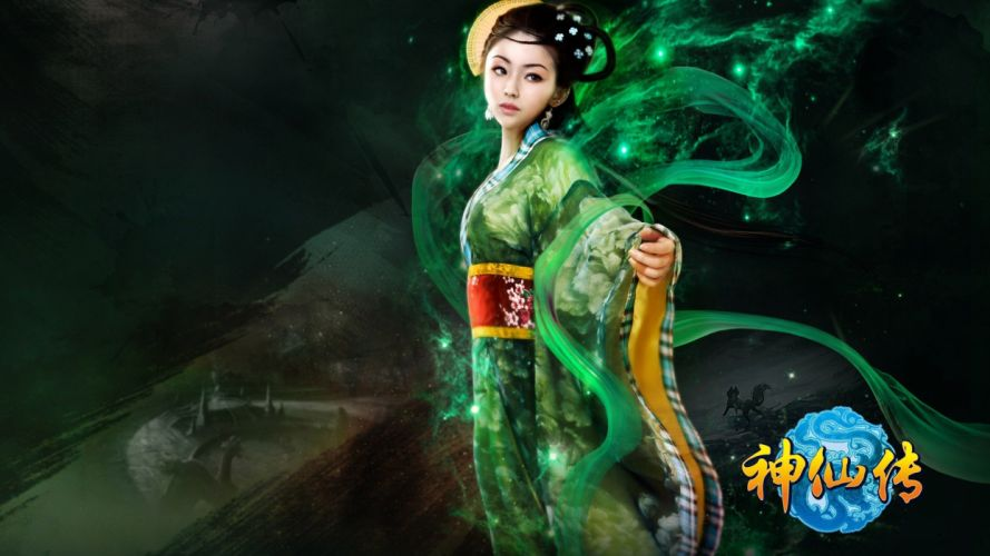 JADE DYNASTY fantasy mmo rpg action fighting martial kung 1jaded perfect online zhu xian Supernatural Biography cosplay girl girls wallpaper