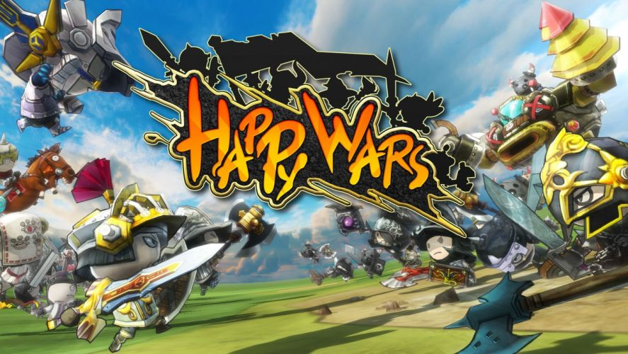 HAPPY WARS fantasy mmo rpg action fighting war 1hwars arcade tactical strategy wallpaper