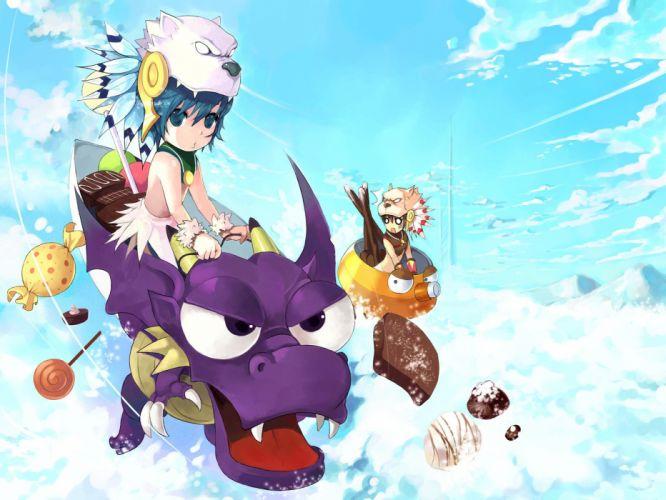 GUNBOUND Online mmo rpg artillery action fighting 1gbound anime adventure wallpaper