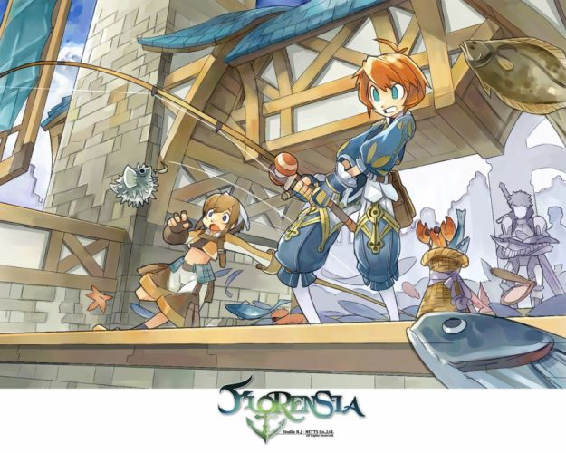 FLORENSIA ONLINE anime mmo rpg fantasy adventure explaration maritime sailing 1floro poster wallpaper