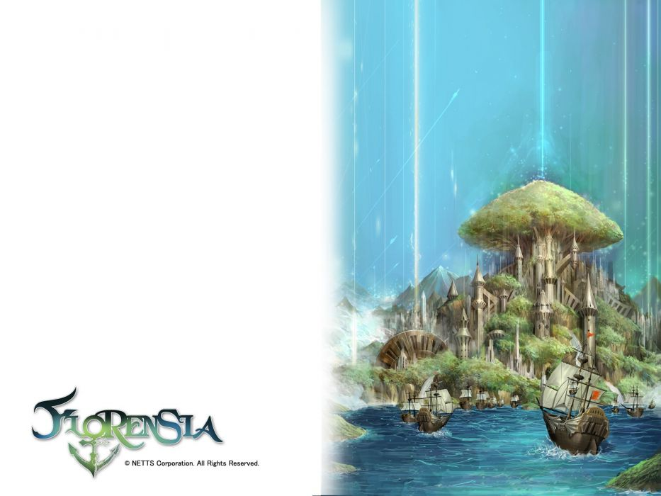 FLORENSIA ONLINE anime mmo rpg fantasy adventure explaration maritime sailing 1floro poster wallpaper
