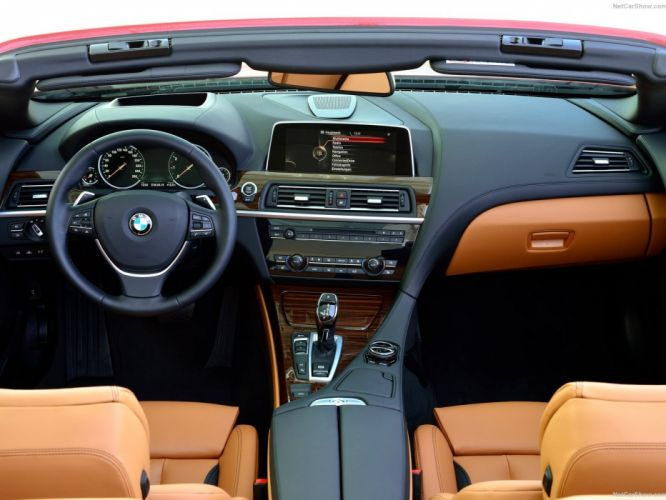 2015 6-Series BMW cabriolet cars convertible facelift interior wallpaper