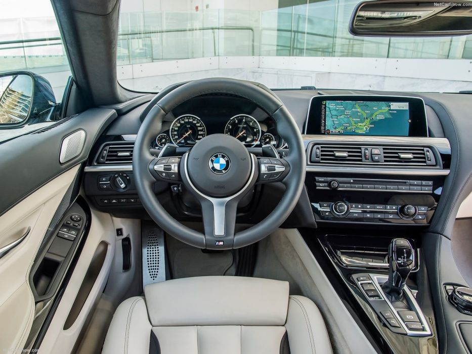 2015 6-Series BMW coupe cars facelift interior wallpaper