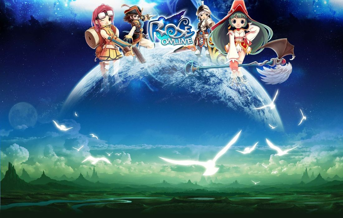ROSE ONLINE Rush On Seven anime mmo rpg fantasy adventure action fighting magic exploration 1roseo wallpaper