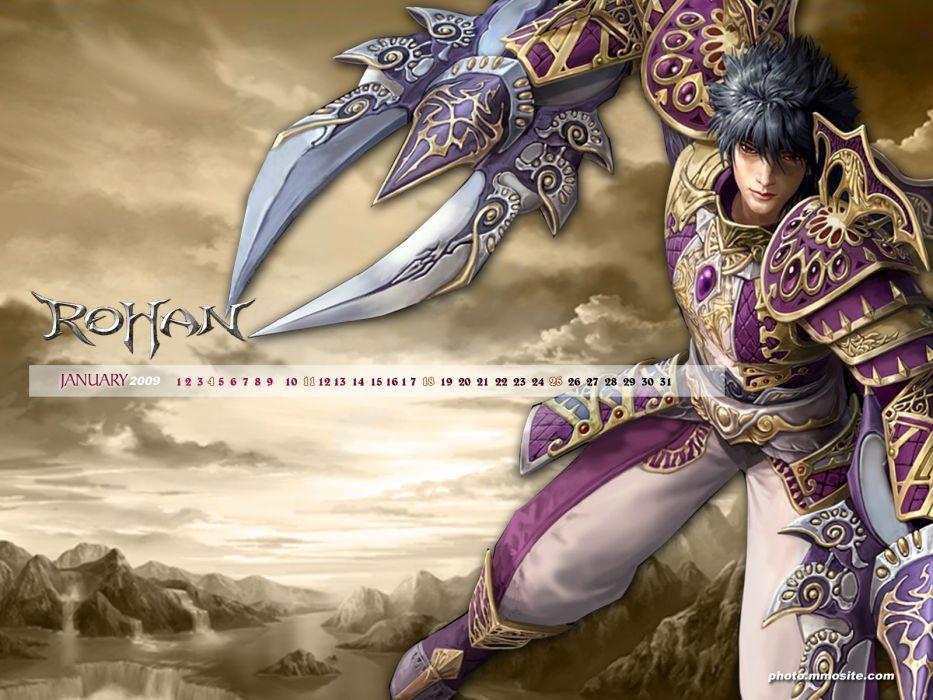 ROHAN BLOOD FEUD Online fantasy mmo rpg action fighting 1rbf gods exploration adventure warrior calendar poster wallpaper