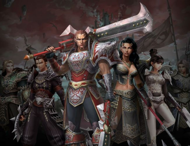 ROHAN BLOOD FEUD Online fantasy mmo rpg action fighting 1rbf gods exploration adventure warrior wallpaper
