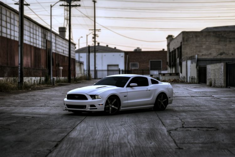 ord mustang gt white streets cars motors race wallpaper