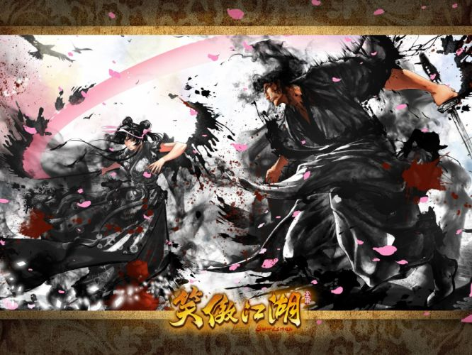 SWORDSMAN ONLINE fantasy mmo rpg action fighting martial kung 1sworo wuxia hero heroes warrior samurai asian poster wallpaper