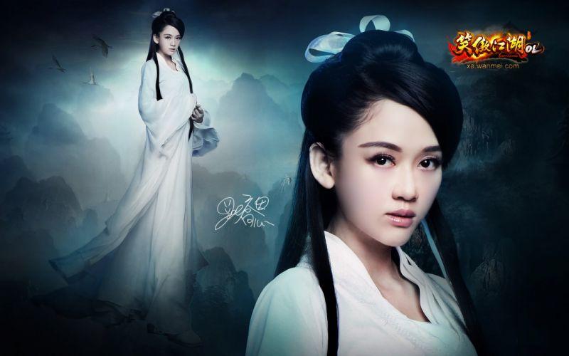 SWORDSMAN ONLINE fantasy mmo rpg action fighting martial kung 1sworo wuxia hero heroes warrior samurai asian poster girl girls cosplay wallpaper