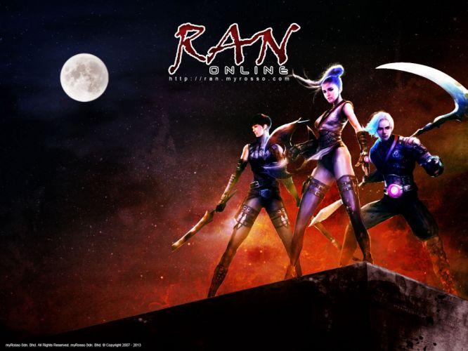 RAN ONLINE anime mmo rpg fantasy sci-fi action adventure fighting exploration 1rano school warrior shooter wallpaper