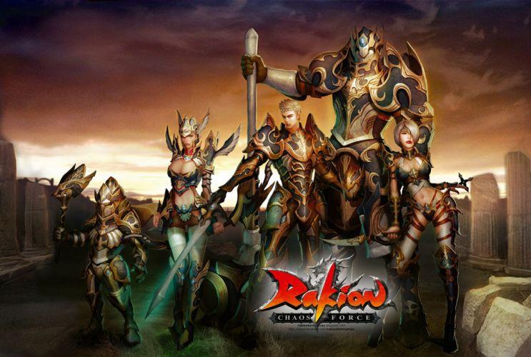RAKION sword fighting action fantasy strategy rts chaos force 1rakion medieval online mmo rpg warrior ninja poster wallpaper