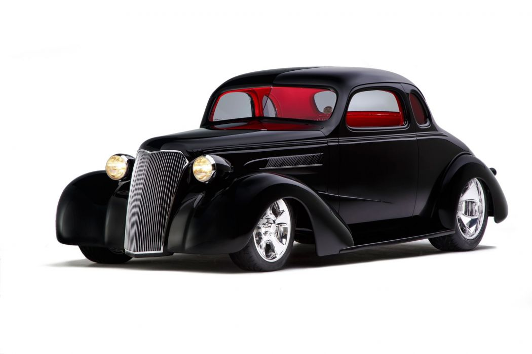 1937 Chevrolet Chevy Coupe Hotrod Hot Rod Streetrod Street USA 2048x1360-01 wallpaper