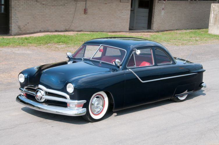 1950 Ford Deluixe Coupe Custom Low Hotrod Hot Rod Streetrod Street USA 2048x1360-01 wallpaper