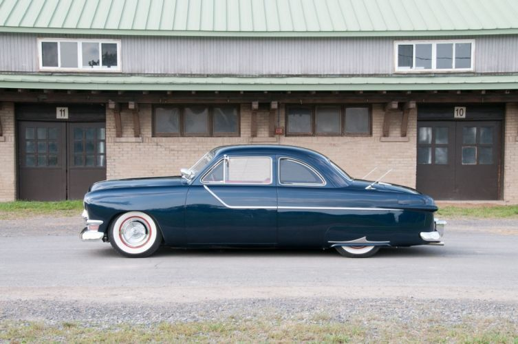 1950 Ford Deluixe Coupe Custom Low Hotrod Hot Rod Streetrod Street USA 2048x1360-03 wallpaper