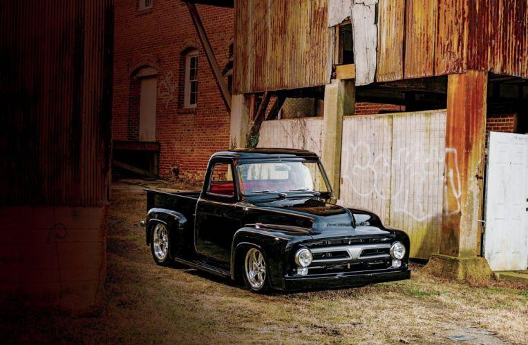 1953 Ford F100 Pickup Hotrod Hot Rod Street USA 2048x1360-01 wallpaper