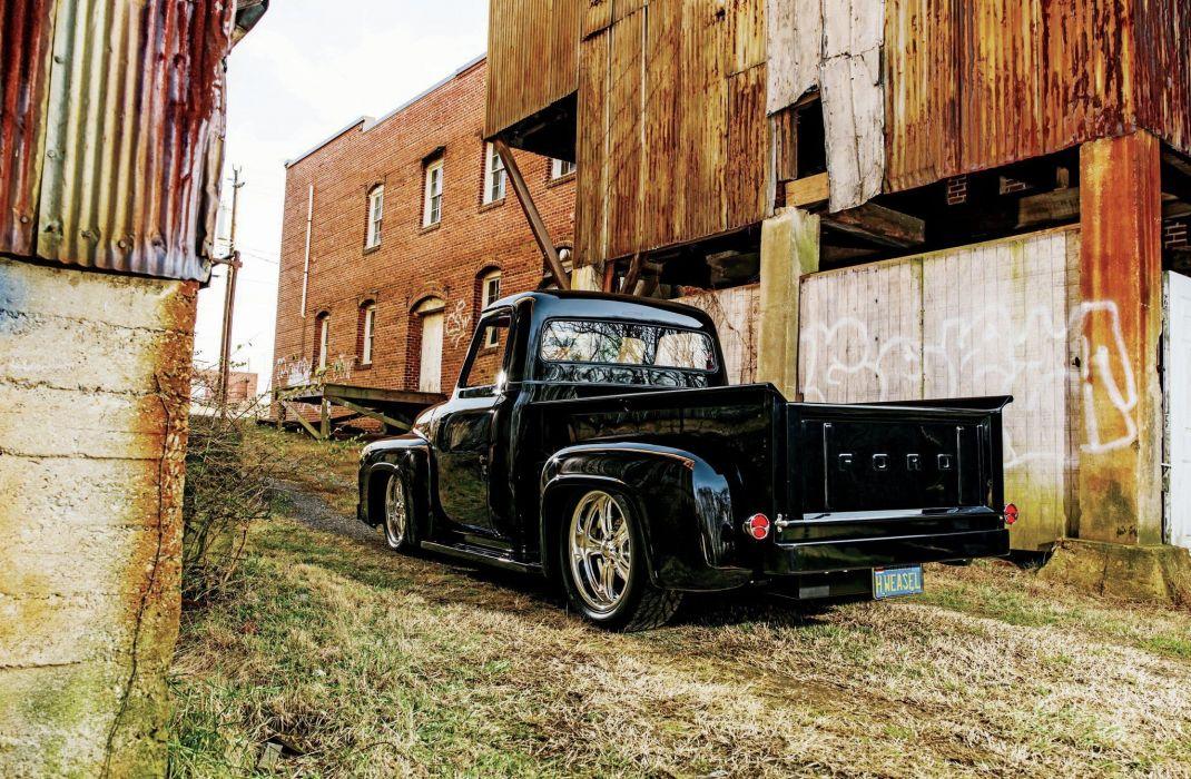 1953 Ford F100 Pickup Hotrod Hot Rod Street USA 2048x1360-02 wallpaper