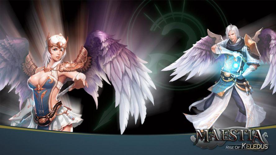 MAESTIA ONLINE fantasy mmo rpg adventure action strategy fighting gods Rise Keledus 1maestia elf elves poster angel wallpaper
