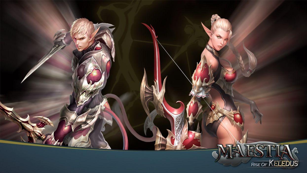 MAESTIA ONLINE fantasy mmo rpg adventure action strategy fighting gods Rise Keledus 1maestia elf elves poster archer girl wallpaper