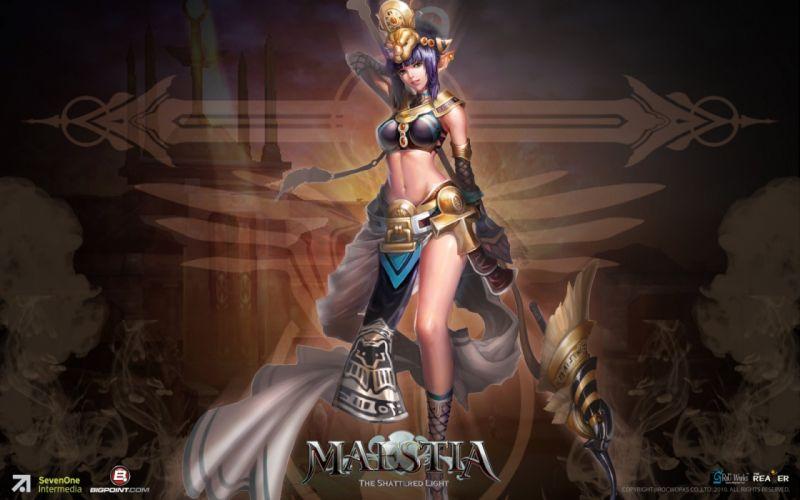 MAESTIA ONLINE fantasy mmo rpg adventure action strategy fighting gods Rise Keledus 1maestia elf elves poster girl wallpaper