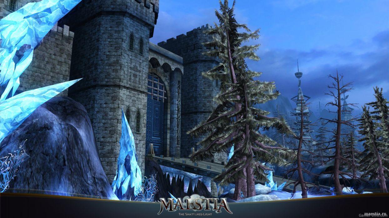 MAESTIA ONLINE fantasy mmo rpg adventure action strategy fighting gods Rise Keledus 1maestia elf elves poster castle wallpaper