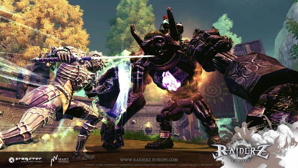 RAIDERZ monster hunting fantasy mmo rpg online action fighting 1raiderz adventure poster wallpaper