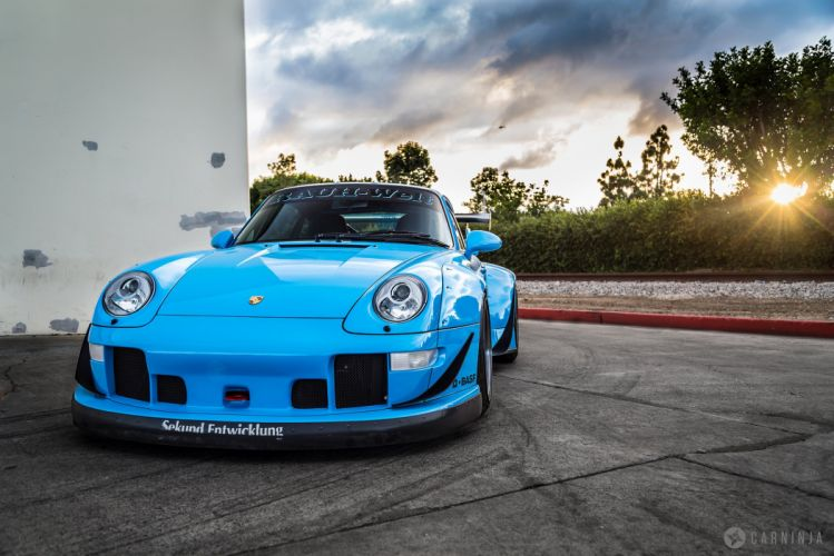RWB Porsche 993 coupe cars body kit tuning wallpaper