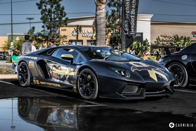 Aventador Lamborghini Supercar supercars cars wrapping black mat wallpaper