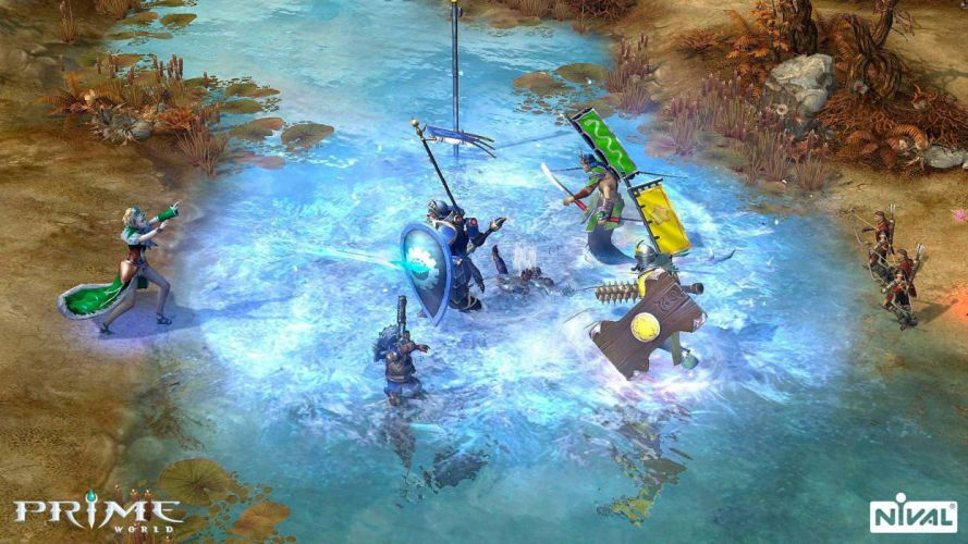 PRIME WORLD fantasy mmo rpg online action fighting adventure arena tower defense strategy 1primew warrior sci-fi wallpaper