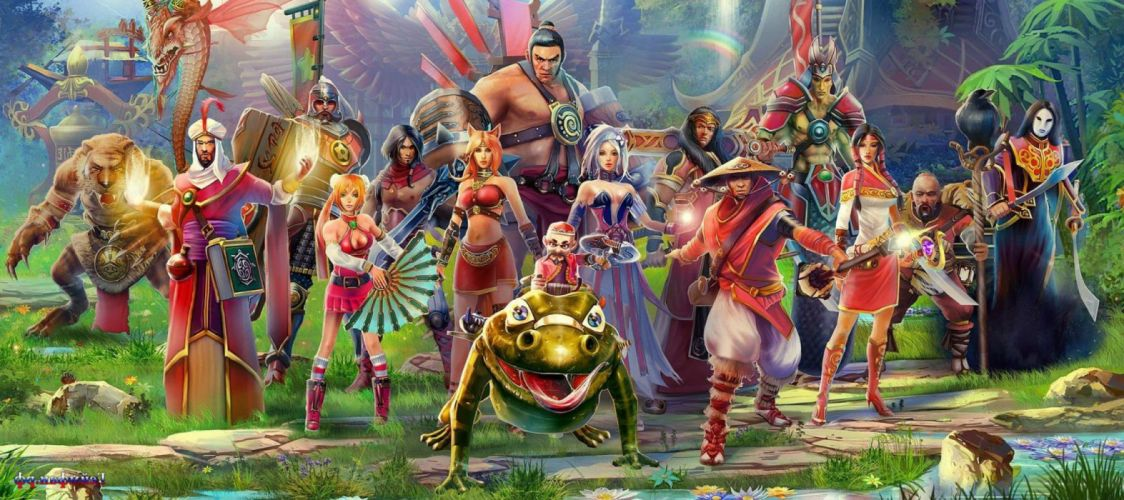 PRIME WORLD fantasy mmo rpg online action fighting adventure arena tower defense strategy 1primew warrior sci-fi poster girl girls creature wallpaper