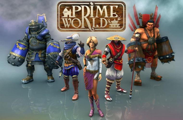 PRIME WORLD fantasy mmo rpg online action fighting adventure arena tower defense strategy 1primew warrior sci-fi poster wallpaper