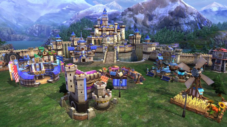 PRIME WORLD fantasy mmo rpg online action fighting adventure arena tower defense strategy 1primew warrior sci-fi poster castle detail wallpaper