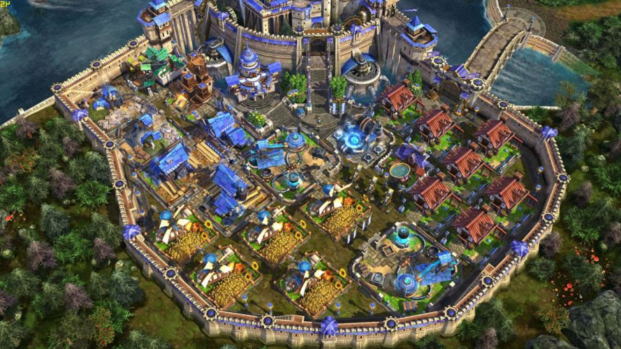 PRIME WORLD fantasy mmo rpg online action fighting adventure arena tower defense strategy 1primew warrior sci-fi poster detail castle wallpaper