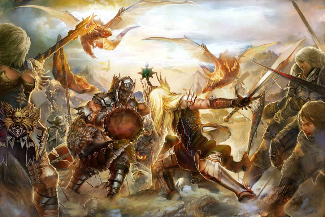FORSAKEN WORLD Shenmo Online fantasy mmo rpg perfect 1fwso action fighting adventure dark age warrior vampire perfect detail artwork batle wallpaper