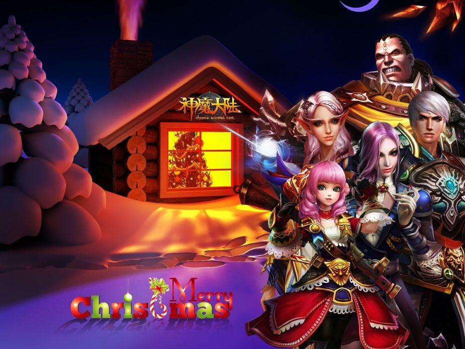 FORSAKEN WORLD Shenmo Online fantasy mmo rpg perfect 1fwso action fighting adventure dark age warrior vampire perfect detail poster christmas wallpaper