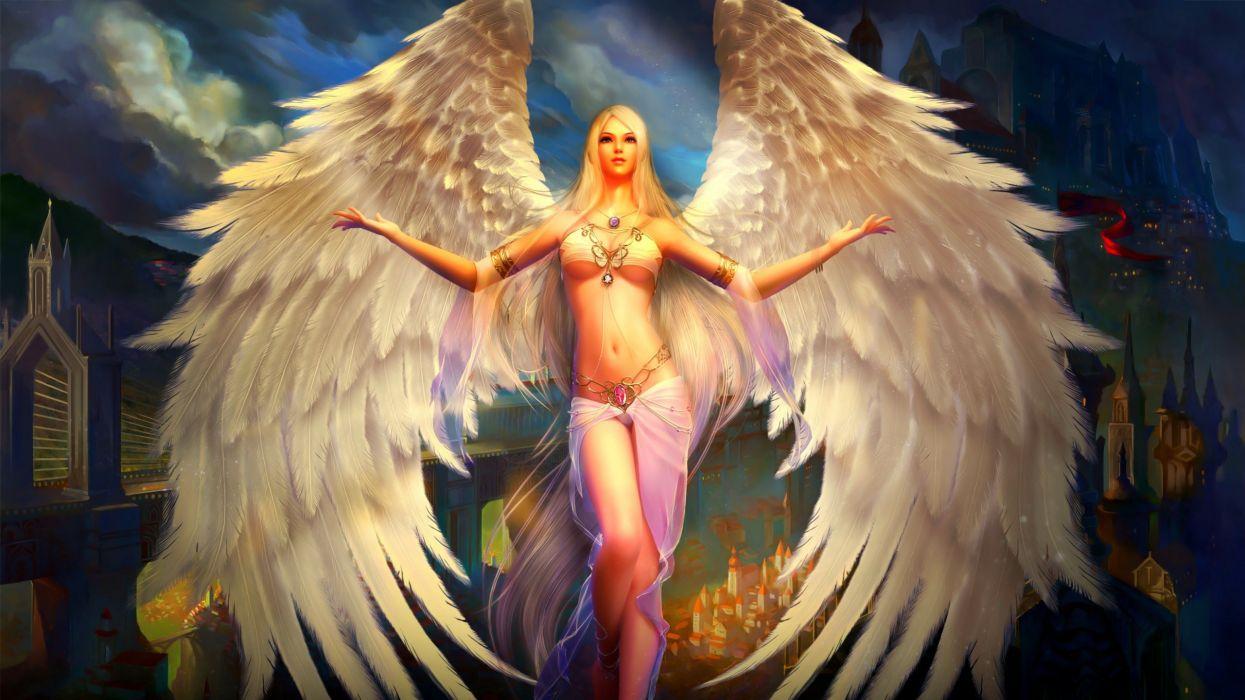 FORSAKEN WORLD Shenmo Online fantasy mmo rpg perfect 1fwso action fighting adventure dark age warrior vampire perfect detail girl girls angel wallpaper