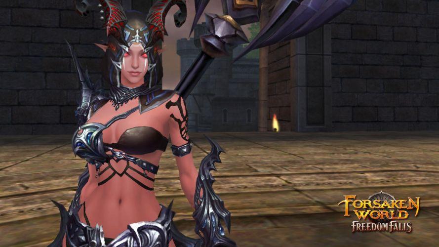 FORSAKEN WORLD Shenmo Online fantasy mmo rpg perfect 1fwso action fighting adventure dark age warrior vampire perfect detail poster girl girls poster wallpaper