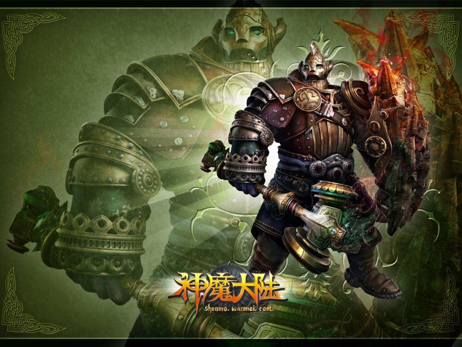 FORSAKEN WORLD Shenmo Online fantasy mmo rpg perfect 1fwso action fighting adventure dark age warrior vampire perfect detail poster wallpaper