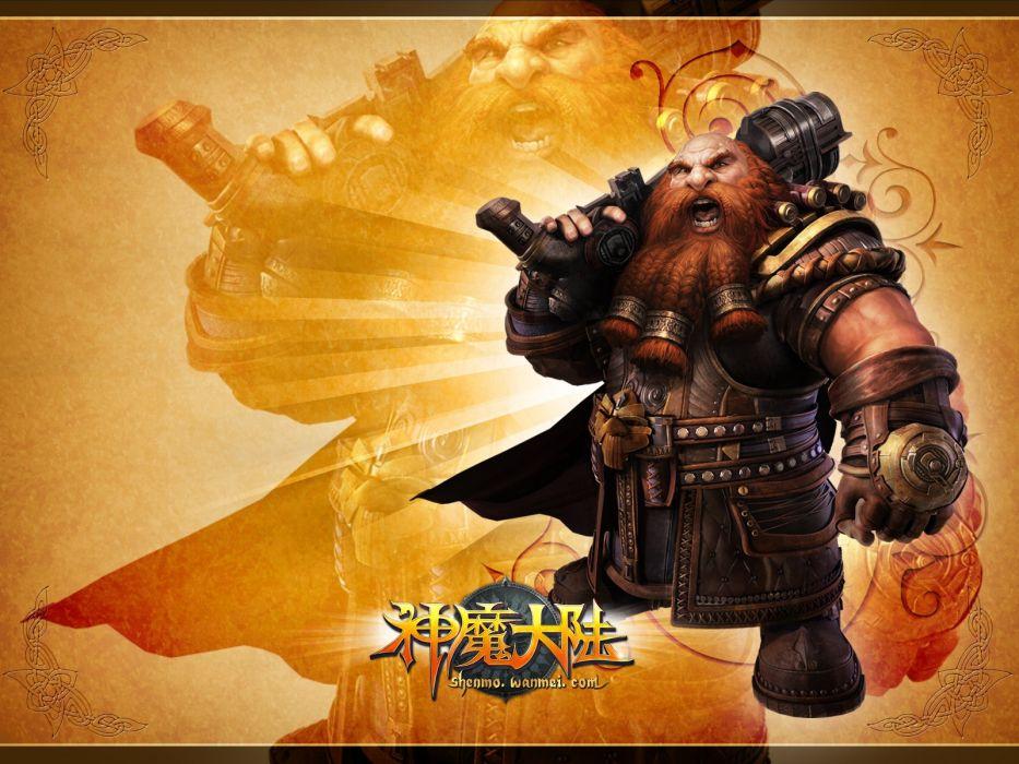FORSAKEN WORLD Shenmo Online fantasy mmo rpg perfect 1fwso action fighting adventure dark age warrior vampire perfect detail poster poster dwarf wallpaper