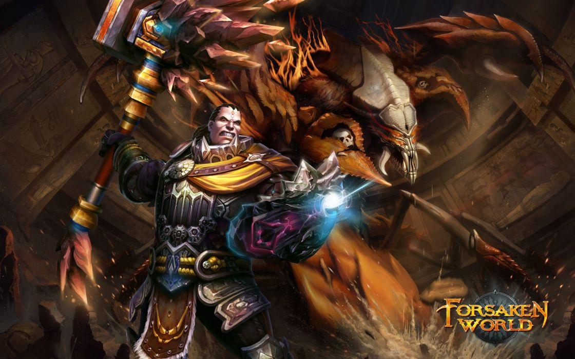 FORSAKEN WORLD Shenmo Online fantasy mmo rpg perfect 1fwso action fighting adventure dark age warrior vampire perfect poster wallpaper
