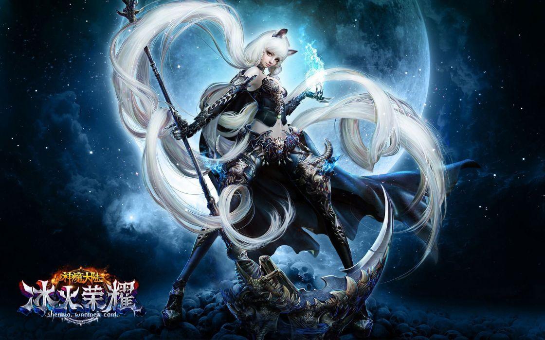 FORSAKEN WORLD Shenmo Online fantasy mmo rpg perfect 1fwso action fighting adventure dark age warrior vampire perfect detail girl girls artwork poster magic wallpaper