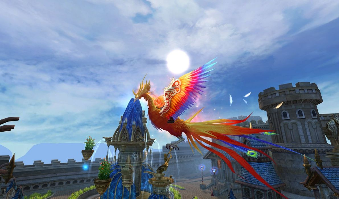 FORSAKEN WORLD Shenmo Online fantasy mmo rpg perfect 1fwso action fighting adventure dark age warrior vampire perfect detail artwork creature parrot pheonix wallpaper