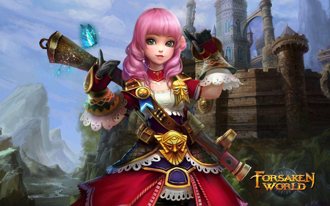 FORSAKEN WORLD Shenmo Online fantasy mmo rpg perfect 1fwso action fighting adventure dark age warrior vampire perfect detail girl girls artwork poster anime wallpaper