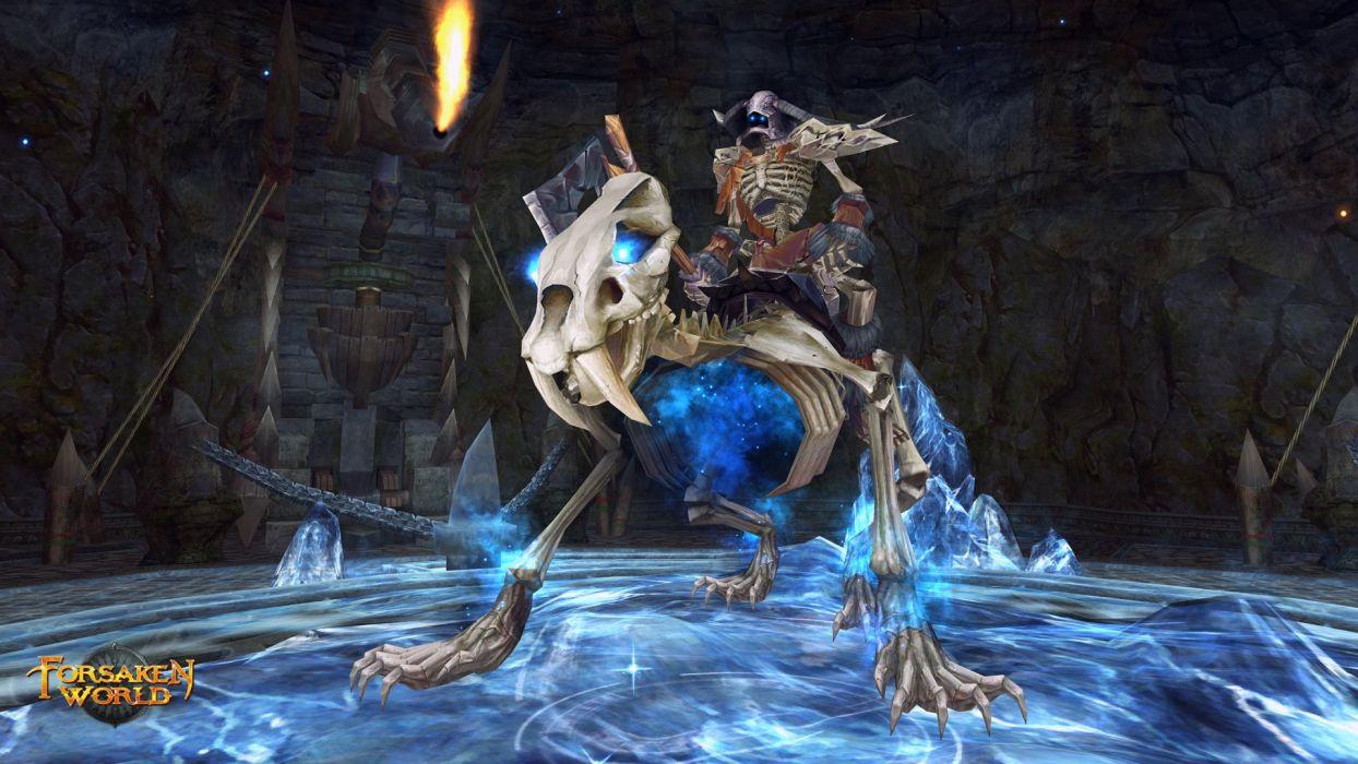 FORSAKEN WORLD Shenmo Online fantasy mmo rpg perfect 1fwso action fighting adventure dark age warrior vampire perfect skull monster wallpaper
