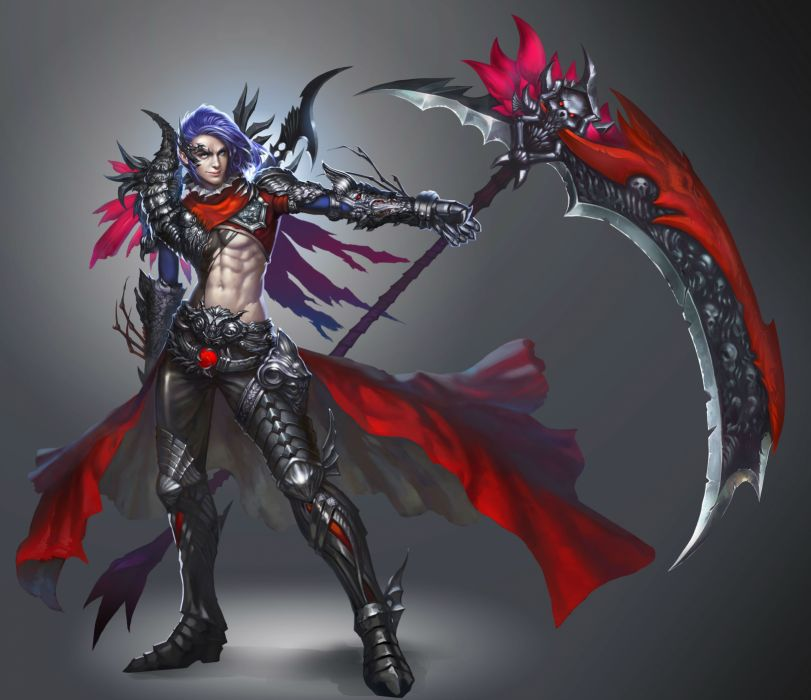 FORSAKEN WORLD Shenmo Online fantasy mmo rpg perfect 1fwso action fighting adventure dark age warrior vampire perfect detail artwork wallpaper
