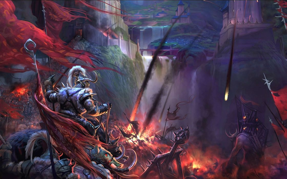 FORSAKEN WORLD Shenmo Online fantasy mmo rpg perfect 1fwso action fighting adventure dark age warrior vampire perfect detail artwork poster battle wallpaper