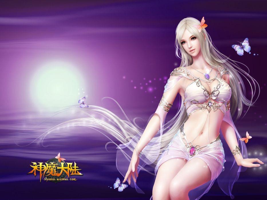 FORSAKEN WORLD Shenmo Online fantasy mmo rpg perfect 1fwso action fighting adventure dark age warrior vampire perfect detail girl girls artwork poster wallpaper