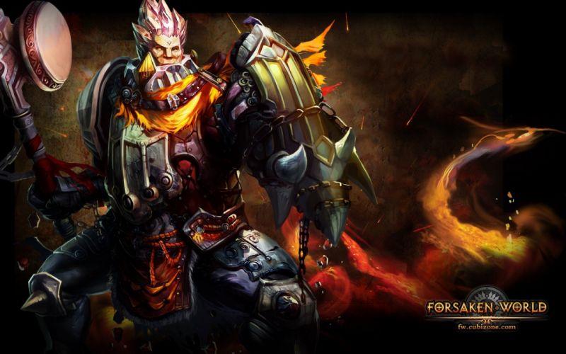 FORSAKEN WORLD Shenmo Online fantasy mmo rpg perfect 1fwso action fighting adventure dark age warrior vampire perfect detail artwork poster wallpaper